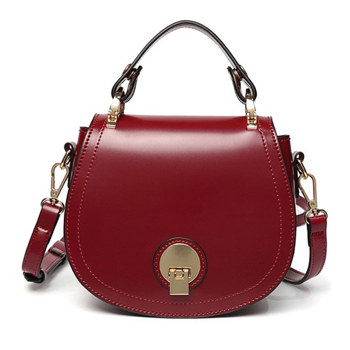 Lovely Oval Shape Lock Cross Body Bag