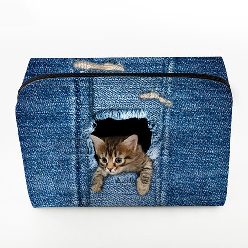 Lovely Pet Pattern PU Cosmetic Bag