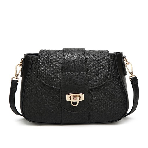 Classic Croco-Embossed Saddle Cross Body Bag