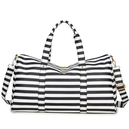 Casual Stripe Pattern Travelling Tote Bag