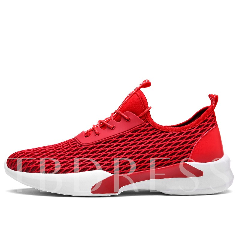 Lace-Up Patchwork Spandex Thread Low-Cut Upper Men's Running Shoes
