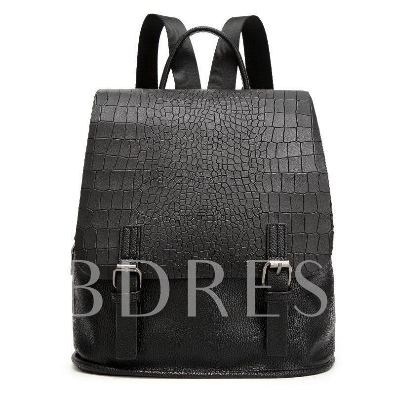 All Match Croco-Embossed Women Backpack