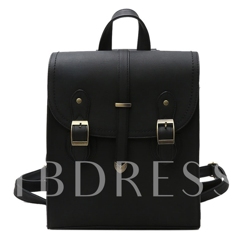 Solid Color Nubuck Leather Women Backpack