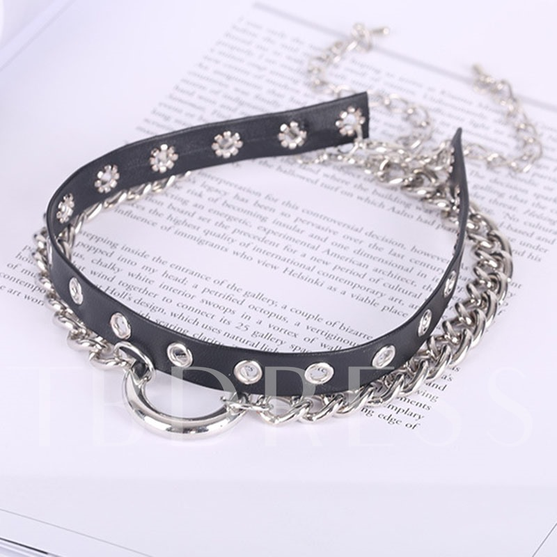 Alloy Hollow Out Personalized Double Necklace