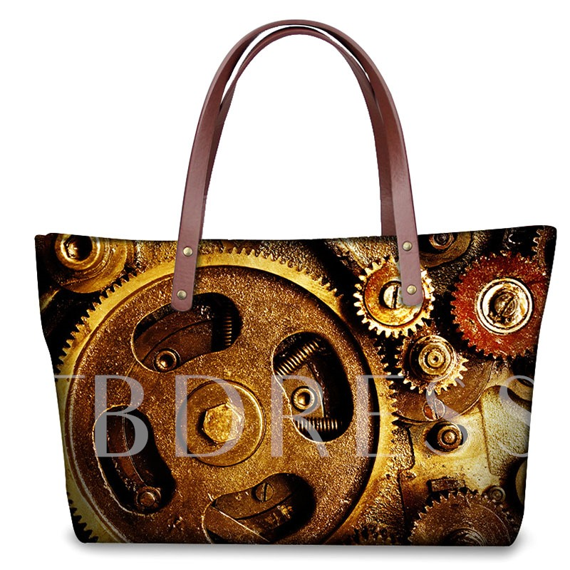 Personality Gear Printing Pattern Tote Bag
