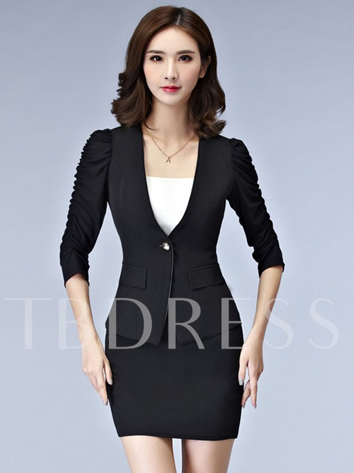 Slim One Button Women's Blazer