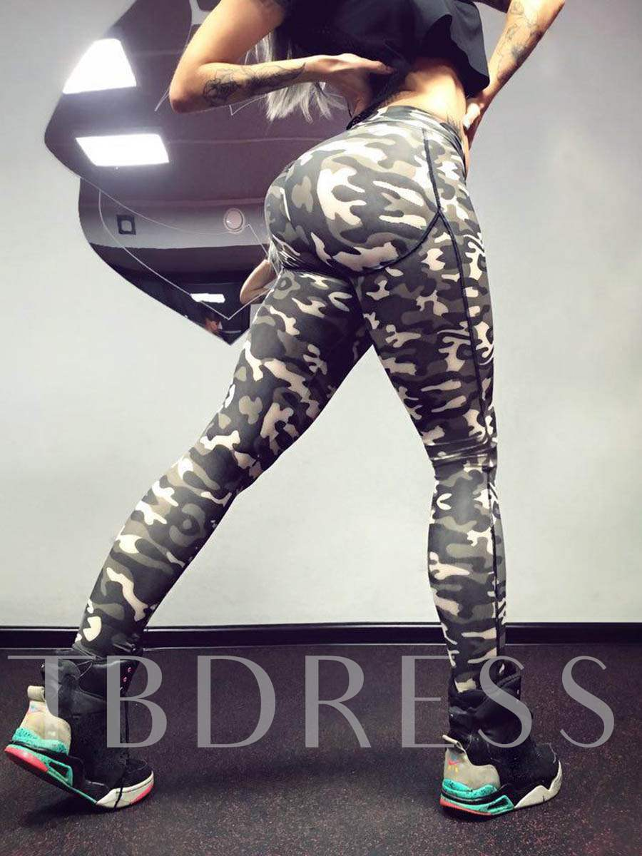 Camouflage Skinny Women's Sports Leggings