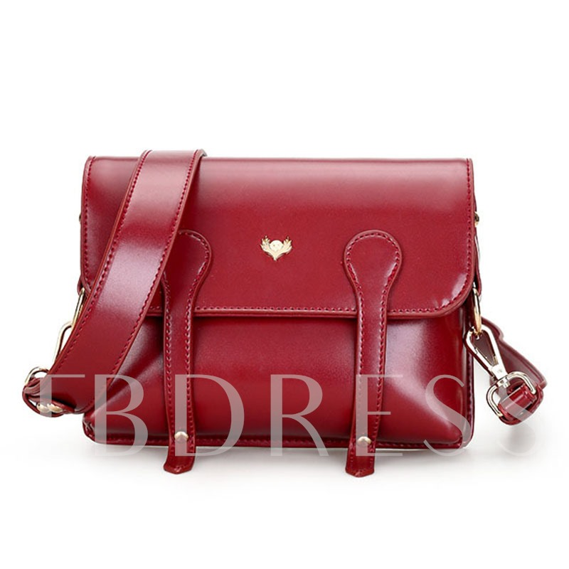 Retro Solid Color Women Crossbody Bag