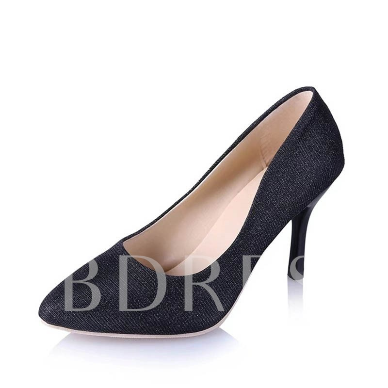 Buy Glitter Slip-On Pointed Toe Women's Professional Pumps, Spring,Summer,Fall, 12901235 for $17.99 in TBDress store