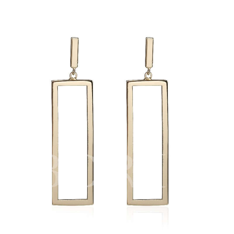 Geometric Emerald Copper European Simple Earrings