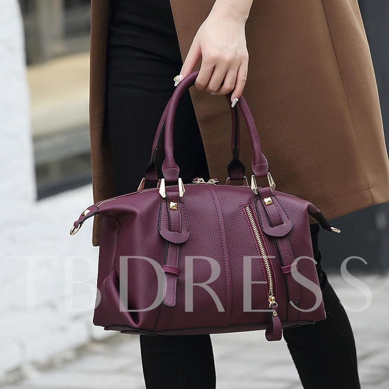 All Match Solid Color Soft PU Tote