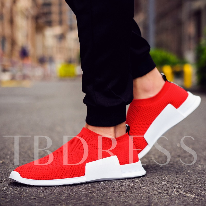 Spandex Slip-On Low-Cut Upper Men's Casual Running Shoes
