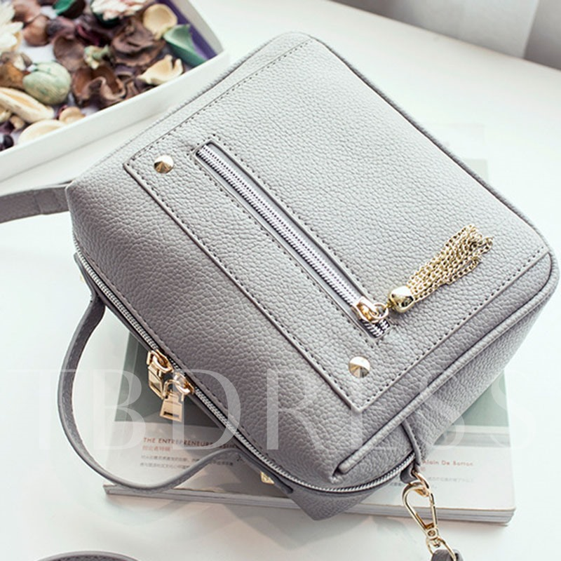Exquisite Metal Tassel Decoration Crossbody Bag