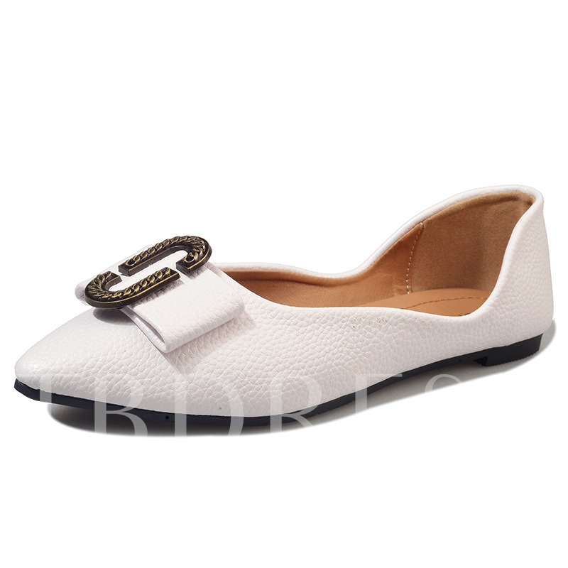 Pointed Toe Bow Sequins Slip-On Plain Women's Flats