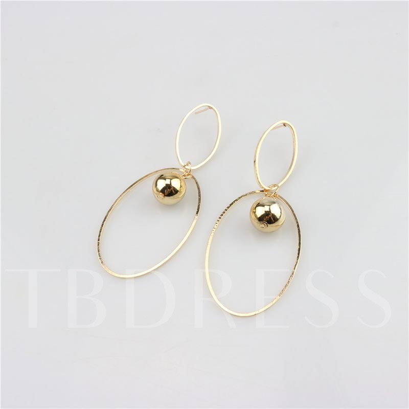 Alloy Twist Arm Hollow Out Hoop Earrings