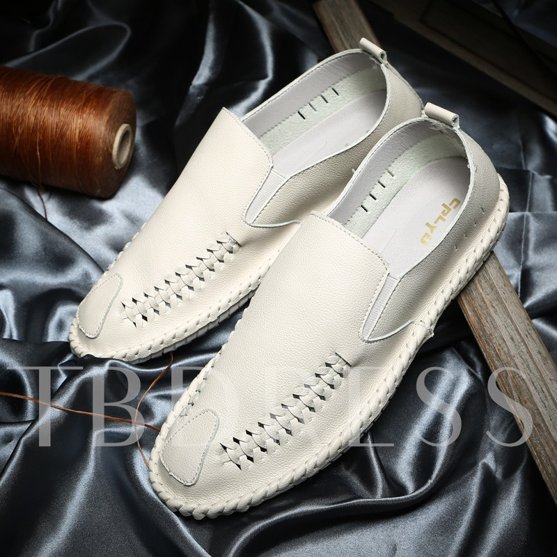 Low-Cut Upper PU Slip-On Sewing Thread Men's Casual Tods Shoes