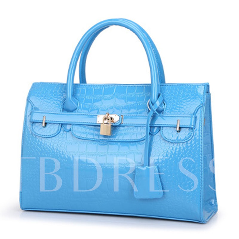 Ladylike Croco-Embossed Women Handbag