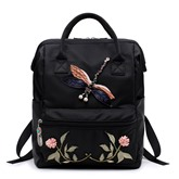 Ethnic Style Floral Embroidery Women Backpack