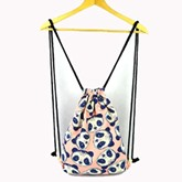 Casual Drawstring Canvas Women Backpack
