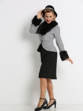 Double-Layered Furry Women's Two Piece Set