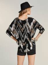 Camouflage Loose Pullover Women's Sweater