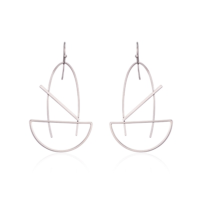 Simple Geometric Alloy Original Earrings