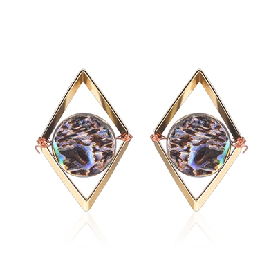 Alloy Trangle Geometric European Earrings