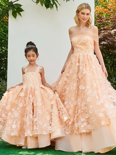 Straps Lace Zipper-Up A-Line Flower Girl Dress