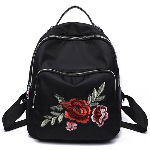 National Flavor Embroidered Floral Design Backpack