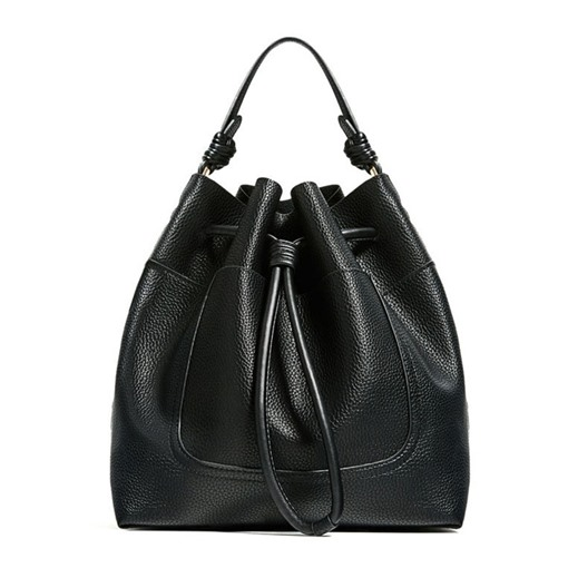 Casual Solid Color String Barrel-Shaped Tote