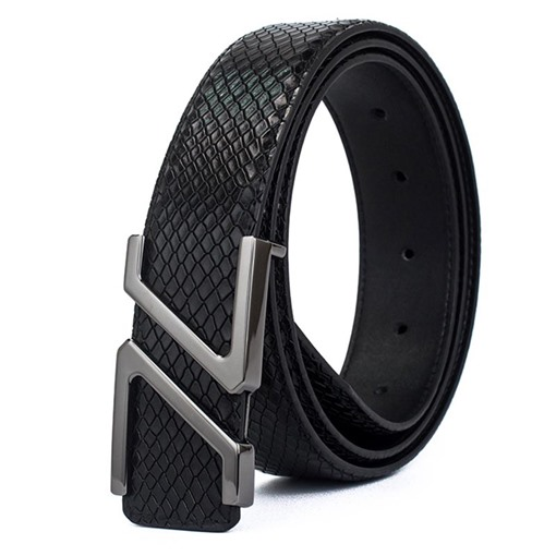 Alloy Embossed Artificial Leather Automatic Men's Belts
