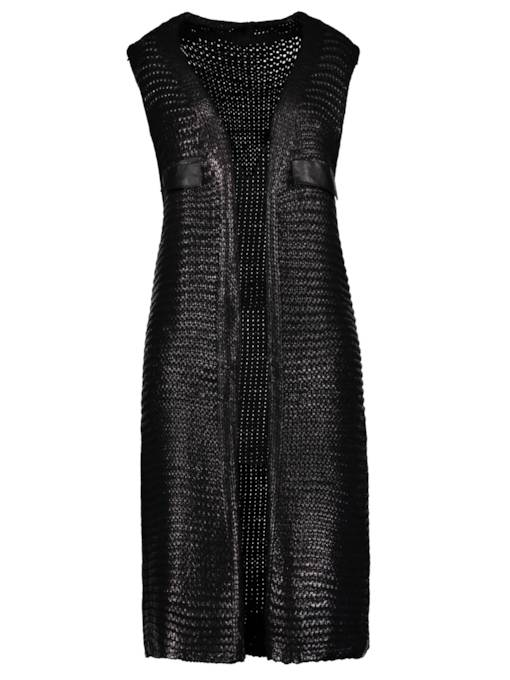Plain Patchwork Sleeveless Women's Vest