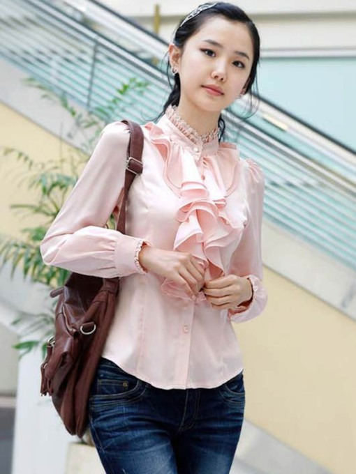 Slim Lace Asymmetric Women's Shirt
