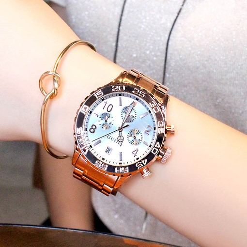 Three Eye Table Analogue Display Water Resistant Watches