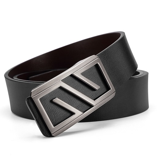 Alloy Smooth Buckle Artificial Leather Men's Belts