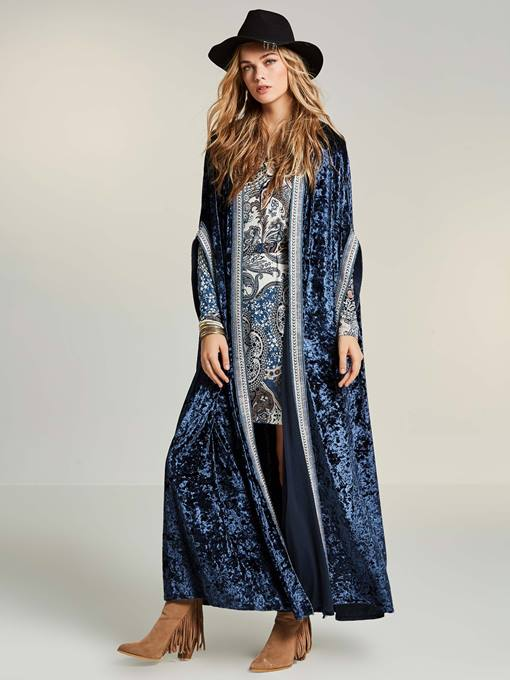Long Solid Color Bat-Wing Sleeve Women's Cardigan