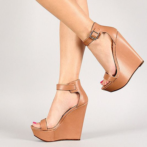 Platform Open Toe Wedge Sandals