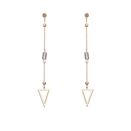 Simple Trangle Artificial Crystal Long Chain Earrings