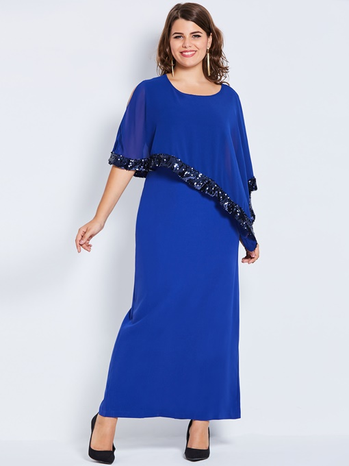 Sequins Pencil Ankle-Length Women's Maxi Dress