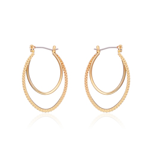 Alloy Simple European Irregular Hoop Earrings