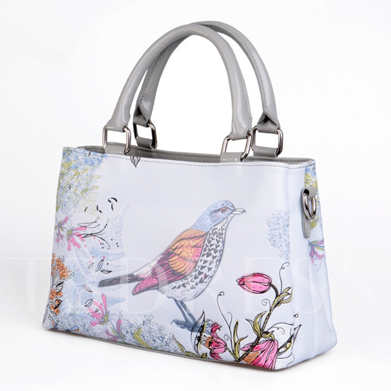 Chinese Style 3D Bird Printing Tote