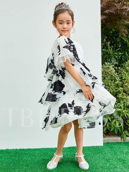 One Shoulder A-Line Knee-Length Flower Girl Dress