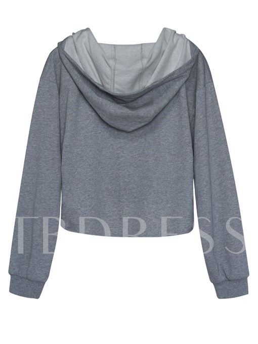 Short Front Lace-Up Women's Hoodie