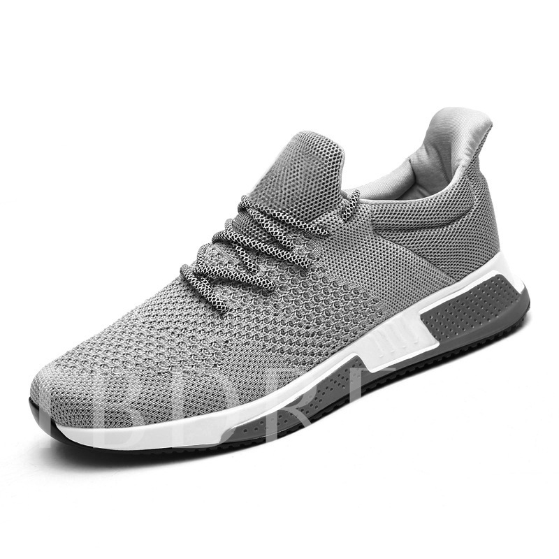 Lace-Up Low-Cut Upper Mesh Thread Men's Casual Running Shoes