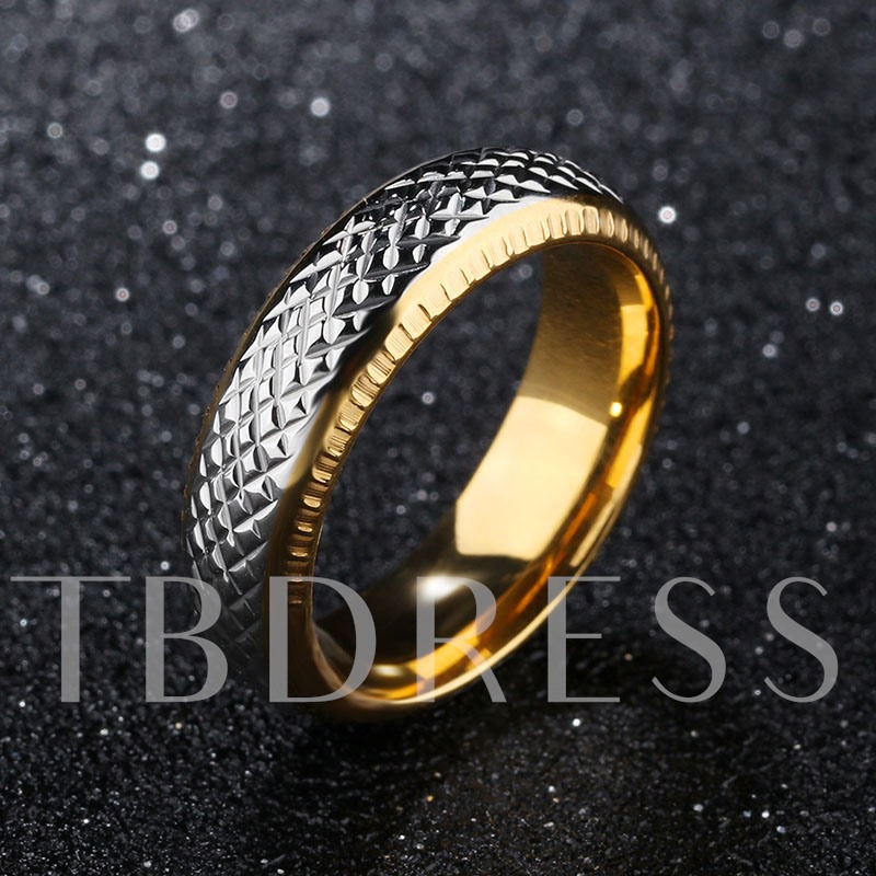 Korean Style Lettering  Color Blocking Tail Men's Ring