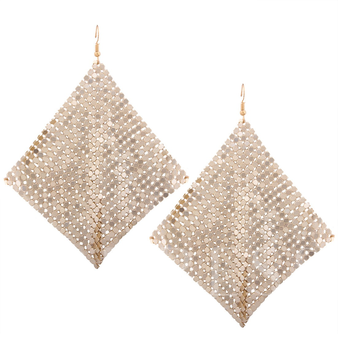 Aluminium Sheet Chain Geometric European Earrings