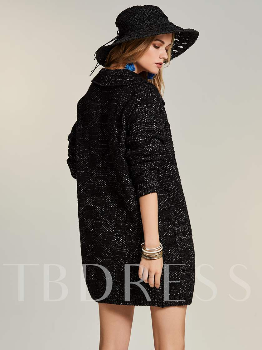 Bohoartist Lapel One Button Women's Cardigan