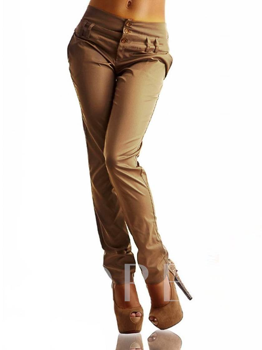Pocket Straight Women's Casual Pants