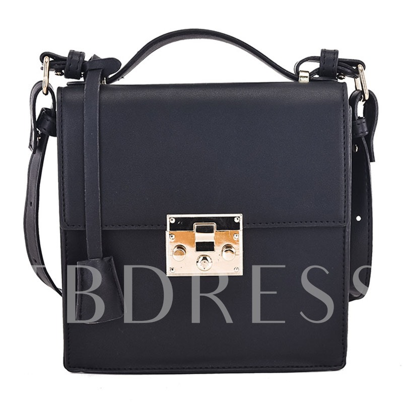 Retro Latch Decoration Cross Body Bag