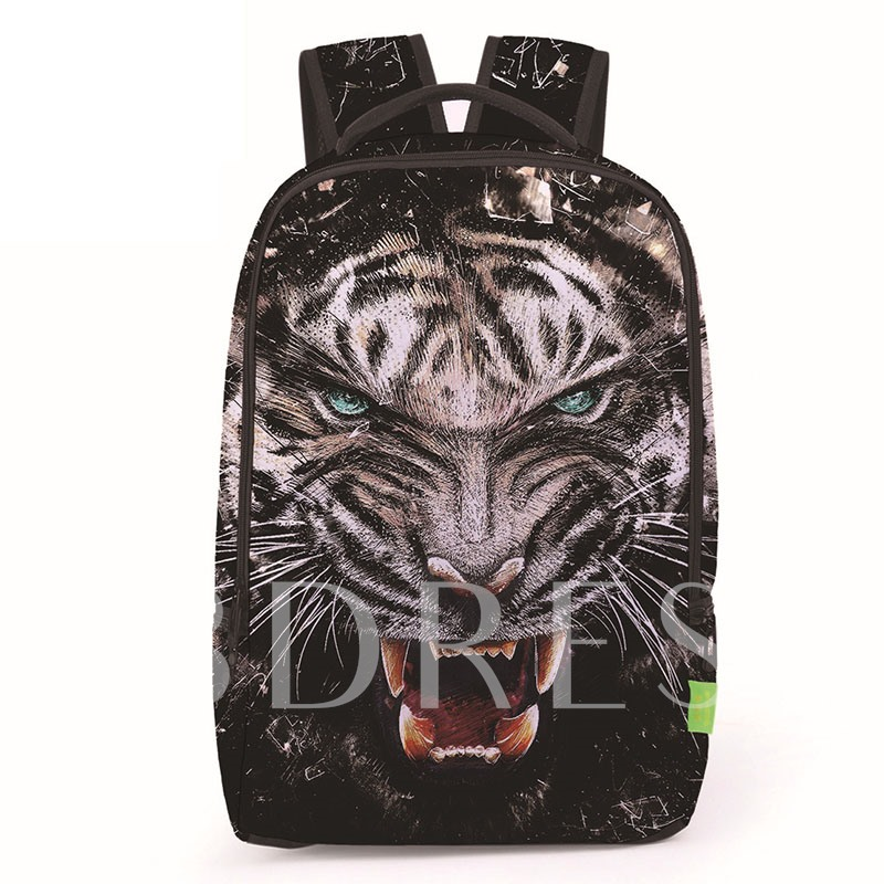 Realistic Animals Printing Zipper Backpack